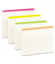 """Post-It 2"""" x 1-1/2"""" Durable File Tabs, Striped Assorted Bright, 24/Pack"""