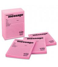 "Post-it 3-7/8"" X 4-7/8"", 12 50-Sheet Pads, Bright Pink Super Sticky Message Pad"