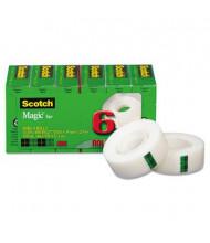 """Scotch 3/4"""" x 27.7 yds Clear Magic Tape, 1"""" Core, 6-Pack"""