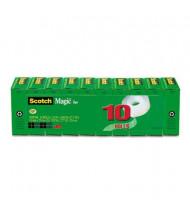 """Scotch 3/4"""" x 27.7 yds Clear Magic Tape, 1"""" Core, 10-Pack"""