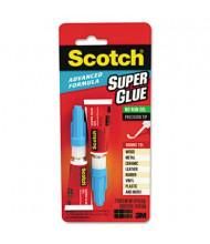 Scotch .07 oz Advanced Formula No-Run Gel Super Glue, 2/Pack