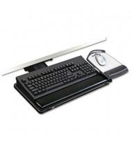 "3M 21-3/4"" Track Lever-Knob Adjustable Keyboard Tray with Platform, Black"
