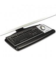 "3M 23"" Track Adjustable Keyboard Tray with Standard Platform, Black"