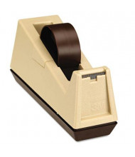 """Scotch Heavy-Duty Core Weighted Tape Dispenser, Putty/Brown, 3"""" Core"""