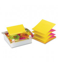 "Post-it Pop-up Note Dispenser with Designer Daisy Insert for 3"" x 3"" Pop-Up Notes"
