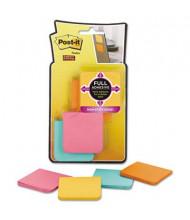 "Post-It 2"" X 2"", 8 25-Sheet Pads, Bora Bora Color Super Sticky Notes"