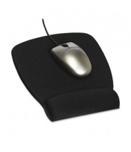 """3M 8-1/2"""" x 6-3/4"""" Foam Nonskid Mouse Pad with Wrist Rest, Black"""