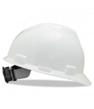 MSA V-Gard Fas-Trac Ratchet Suspension Hard Cap, Size 6 1/2 - 8, White