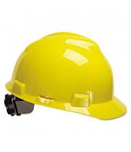 MSA V-Gard Fas-Trac Ratchet Suspension Hard Cap, Size 6 1/2 - 8, Yellow