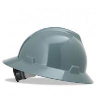 MSA V-Gard  Fas-Trac Ratchet Suspension Hard Hat, Size 6-1/2 to 8, Gray