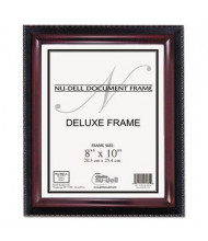 "NuDell Executive 8"" W x 10"" H Document Frame, Black/Mahogany"