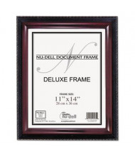 "NuDell Executive 11"" W x 14"" H Document Frame, Black/Mahogany"