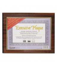 "NuDell Executive 13"" W x 10.5"" H Plaque, Walnut"