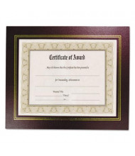"NuDell Leatherette 8.5"" W x 11"" H Document Frame, Burgundy, 2-Pack"