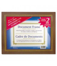 "NuDell Leatherette 8.5"" W x 11"" H Document Frame, Espresso Brown, 2-Pack"
