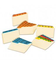 "Oxford 1/3 Tab 3"" x 5"" 12-Month Index Card Guides, Manila, 1 Set"