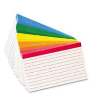"""Oxford 3"""" x 5"""", 100-Cards, Assorted Colors, Ruled Index Cards"""