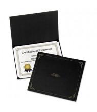 "Oxford 9-3/4"" x 12-1/2"" 5-Pack Certificate Holder, Black"