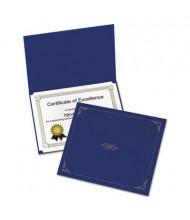 "Oxford 9-3/4"" x 12-1/2"" 5-Pack Certificate Holder, Dark Blue"