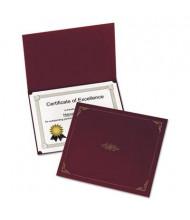 "Oxford 9-3/4"" x 12-1/2"" 5-Pack Certificate Holder, Burgundy"