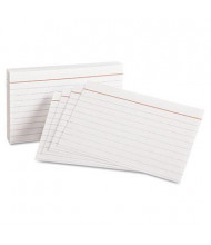 """Oxford 3"""" x 5"""", 100-Cards, White, Ruled Index Cards"""