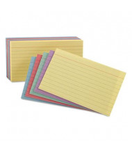 """Oxford 4"""" x 6"""", 100-Cards, Assorted Colors, Ruled Index Cards"""