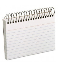 """Oxford 3"""" x 5"""" 50 Cards White Spiral Index Cards"""