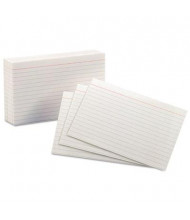 """Oxford 4"""" x 6"""", 100-Cards, White, Ruled Index Cards"""