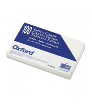 """Oxford 5"""" x 8"""", 100-Cards, White, Unruled Index Cards"""