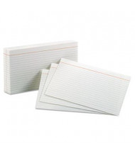 """Oxford 5"""" x 8"""", 100-Cards, White, Ruled Index Cards"""
