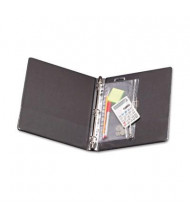 """Oxford 8"""" x 10-1/2"""" Zippered Ring Binder Pocket, Clear/White"""