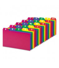 """Oxford 1/5 Tab 3"""" x 5"""" Alphabetic Index Card Guides, Assorted, 1 Set"""