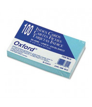 """Oxford 3"""" x 5"""", 100-Cards, Blue, Unruled Index Cards"""