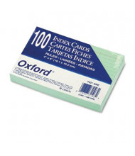 """Oxford 4"""" x 6"""", 100-Cards, Green, Ruled Index Cards"""