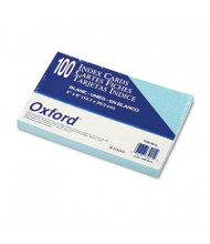 """Oxford 5"""" x 8"""", 100-Cards, Blue, Unruled Index Cards"""