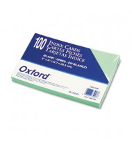 """Oxford 5"""" x 8"""", 100-Cards, Green, Unruled Index Cards"""