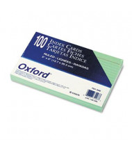 """Oxford 5"""" x 8"""", 100-Cards, Green, Ruled Index Cards"""