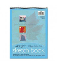 "Pacon Art1st 9"" x 12"", 80lb, 30-Sheet, White Unruled Sketch Book"