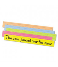 """Pacon 24"""" x 3"""" Sentence Strips, Assorted Bright, 100/Pack"""