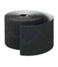 "Pacon Bordette 2-1/4"" x 50 ft. Black Decorative Border Roll"