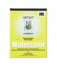 "Pacon Art1st 9"" x 12"", 90lb, 12-Sheet, 12-Pack White Watercolor Paper Pad"