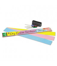 """Pacon 24"""" x 3"""" Dry Erase Sentence Strips, Assorted, 30/Pack"""