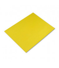 """Pacon Peacock 28"""" x 22"""" 25-Pack Lemon Yellow Four-Ply Poster Boards"""