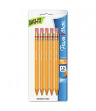 Paper Mate Mates #2 1.3 mm Yellow Mechanical Pencils, 5-Pack