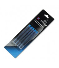 Parker Refill for Washable Fountain Pens, Blue Ink, 5-Pack