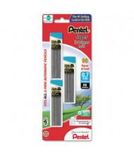 Pentel Super Hi-Polymer 3-Pack 0.7 mm Black Lead Refills, 30-Leads