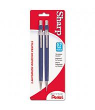 Pentel Sharp #2 0.7 mm Blue Mechanical Drafting Pencil, 2-Pack