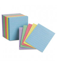 """Oxford 3"""" x 2-1/2"""", 200-Cards, Assorted Colors, Mini Ruled Index Cards"""