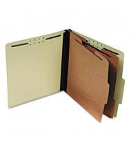 Pendaflex 6-Section Letter Pressboard 25-Point Classification Folders, Light Green, 10/Box