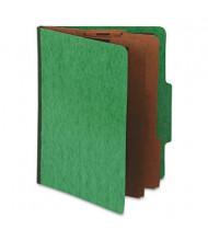 Pendaflex 6-Section Letter 20-Point Pressguard Classification Folders, Green, 10/Box